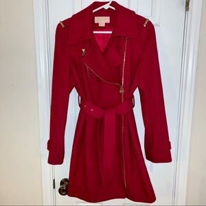 MICHAEL Michael Kors Bold Red Asymmetrical Coat 6